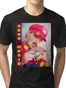 SexyMario - Blowing the Cartridge Tri-blend T-Shirt