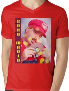 SexyMario - Blowing the Cartridge Mens V-Neck T-Shirt