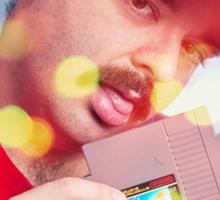 SexyMario - Blowing the Cartridge Sticker