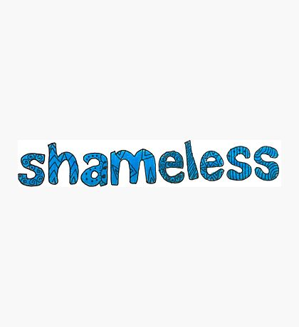 Shameless Logo Photographic Print
