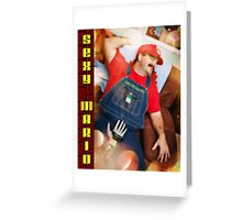 SexyMario - Powerglove Fun Greeting Card