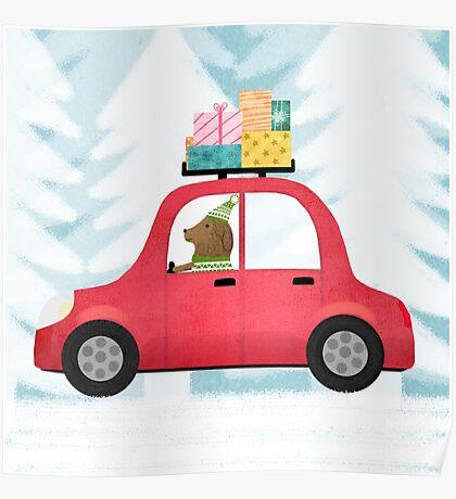 Christmas scene Poster
