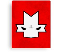 Crasher Knight Face (Red) Canvas Print