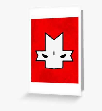 Crasher Knight Face (Red) Greeting Card