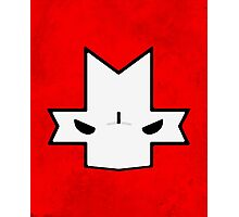 Crasher Knight Face (Red) Photographic Print