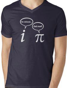 Be Rational Get Real Imaginary Math Pi Mens V-Neck T-Shirt