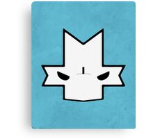 Crasher Knight Face (Blue) Canvas Print