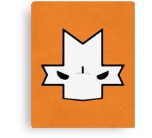 Crasher Knight Face (Orange) Canvas Print