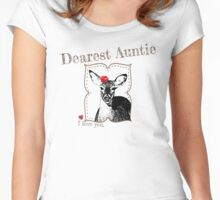 Deer Auntie - I love my dear family Women's Fitted Scoop T-Shirt