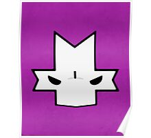 Crasher Knight Face (Purple) Poster