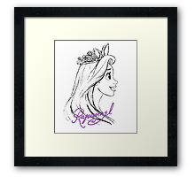 Corona Princess Rapunzel Framed Print