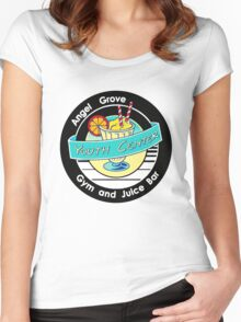 Angel Grove Youth Center - Gym & Juice Bar Women's Fitted Scoop T-Shirt