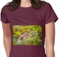 dangle heart flowers grow Womens Fitted T-Shirt