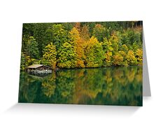 The Alpsee in Fall Greeting Card