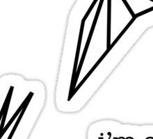 """I'm A Goner"" - Goner lyric (Twenty One Pilots) Sticker"