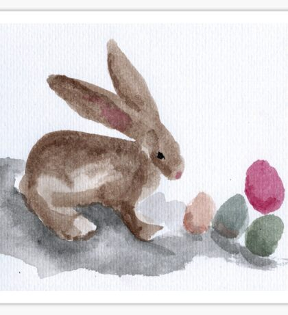 Easter Bunny with eggs Sticker