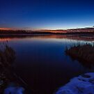 Dusk touches cold water by Owed to Nature