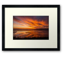 Reflections on a January thaw Framed Print