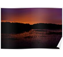 Lavender haze of night – Great Meadows series Poster