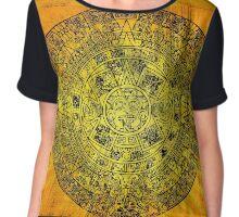 Aztec Calendar Chiffon Top
