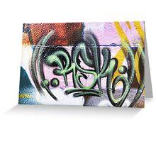 Graffiti Tags - Street Art Wollongong Greeting Card