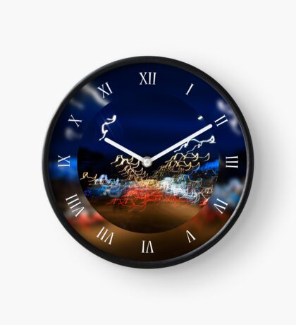 Cars driving night lights Clock