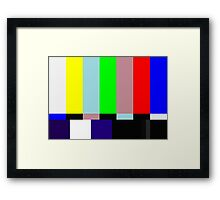 SMPTE TV Testing: Stay Tuned Framed Print
