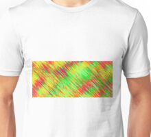 green red yellow painting texture abstract background Unisex T-Shirt