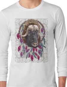 Musk ox Ethnic illustration Long Sleeve T-Shirt