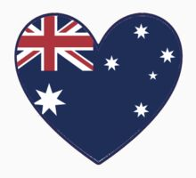 Australian Heart T-Shirt by Craig Stronner