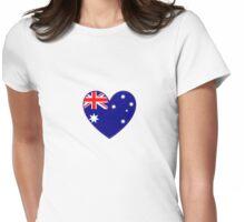 Australian Heart T-Shirt Womens Fitted T-Shirt