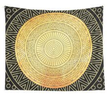 GOLD MANDALA  Wall Tapestry