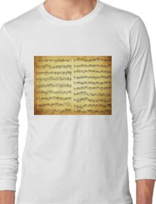 Music sheet on vintage paper Long Sleeve T-Shirt