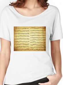 Music sheet on vintage paper Women's Relaxed Fit T-Shirt