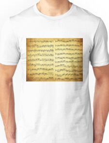 Music sheet on vintage paper Unisex T-Shirt