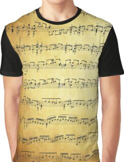 Music sheet on vintage paper Graphic T-Shirt
