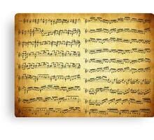 Music sheet on vintage paper Canvas Print