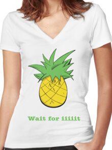 Wait For Iiiiit Women's Fitted V-Neck T-Shirt