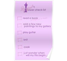 Rapunzel's Check-list Poster