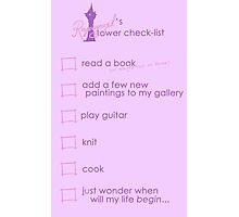 Rapunzel's Check-list Photographic Print