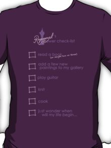 Rapunzel's Check-list T-Shirt