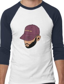 Jon Bellion face beautiful mind Men's Baseball ¾ T-Shirt