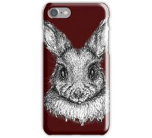 Bunny (black ink/felt pen) iPhone Case/Skin