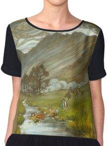 Midgewater Marshes to the Weather Hills Chiffon Top