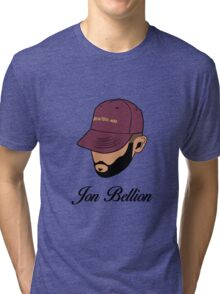 Jon Bellion face beautiful mind with text Tri-blend T-Shirt