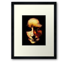 monalisa with eyes that watch the world and can't forget Framed Print