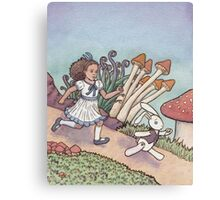 Alice Chased the White Rabbit Canvas Print