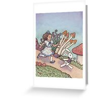 Alice Chased the White Rabbit Greeting Card