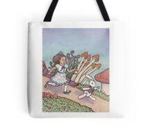 Alice Chased the White Rabbit Tote Bag