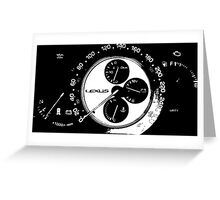 Lexus is300 gauges Greeting Card